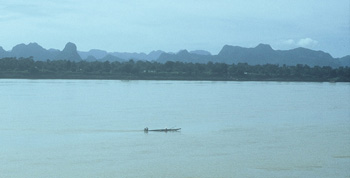 View from Thailand over the Mekong River into Laos