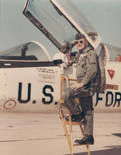 David wearing a G Suit by a T38 at Webb AFB.jpg
