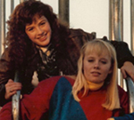 Alison (top) and Teresa (bottom) in 1988