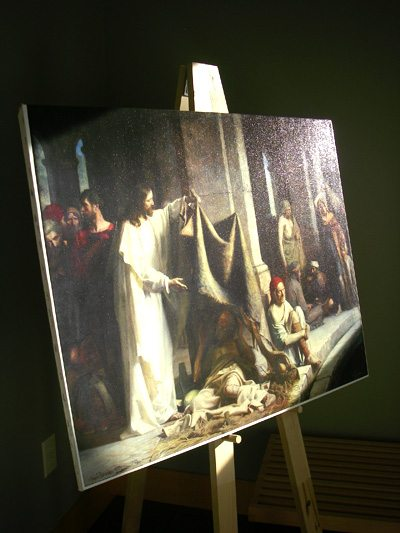 My giclee copy of Carl Bloch's painting Christ Healing the Sick at Bethesda