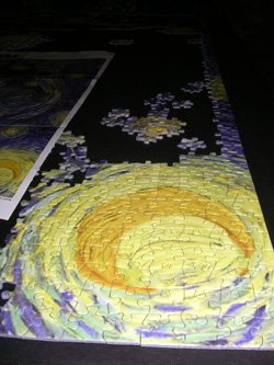 Our 2000-piece puzzle of Starry Night by Van Gogh
