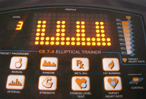 The interval setting on my elliptical