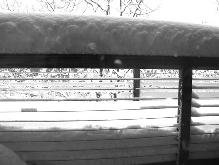 The burden a snowfall on my deck