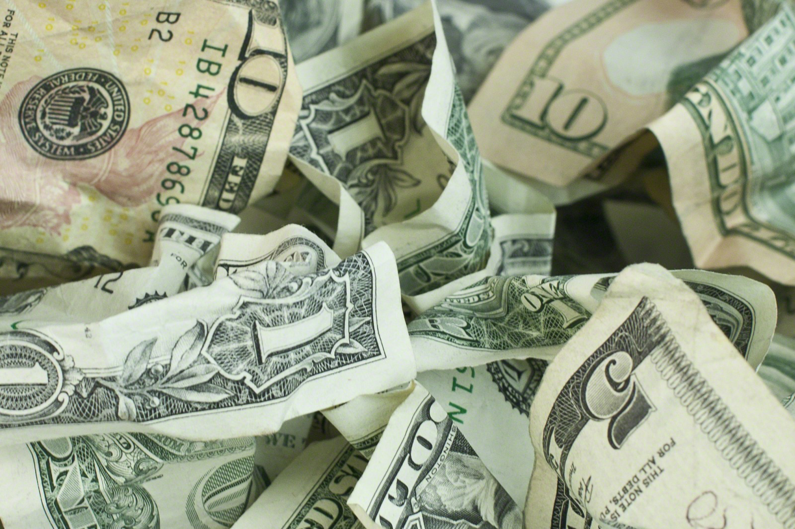 Crumpled money image from lds.org