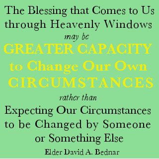 Greater Capacity to Change Our Circumstances