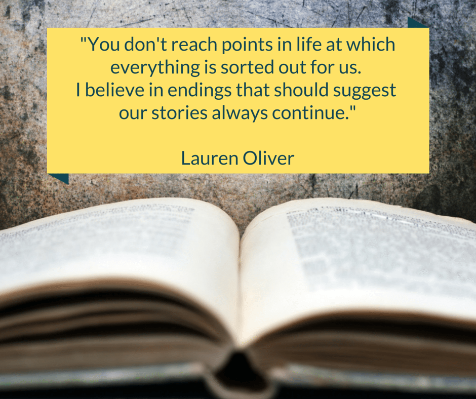 Our Stories Always Continue Quote by Lauren Oliver